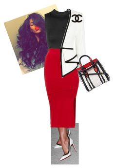 """""""Untitled #481"""" by cogic-fashion ❤ liked on Polyvore featuring Christian Louboutin, sass & bide, Chanel and Alexander McQueen"""