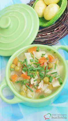 Moja smaczna kuchnia: Zupa jarzynowa z białą kapustą i groszkiem