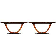Pair of Art Deco Console Tables at 1stdibs