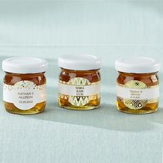 Honey Wedding Favors Personalized with Custom Gold Foil Labels