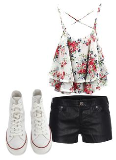 """""""Day with friends"""" by madster01 ❤ liked on Polyvore featuring True Religion and Converse"""