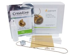 Creative Bronze Clay Fingerprint  Kit: http://www.cooksongold.com/Precious-Metal-Clay/Creative-Bronze-Fingerprint-Kit-prcode-855-1072