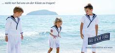 """Sailors Look aus Wien in der Vogue...!!! Matrosenkleidchen und Matrosenanzüge """"fescher Ferdl"""""""