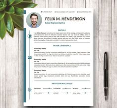 CV/Resume Modern Template For Word By @Graphicsauthor