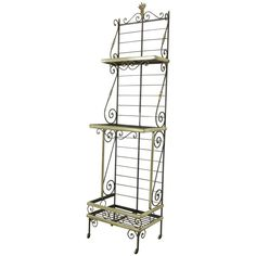 Mid 20th Century French Iron Baker S Rack With Brass Trim And
