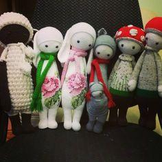 lalylala family made by Katya K. / crochet pattern by lalylala