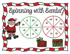 Spinning with Santa freebie!  Blending words with blends and digraph sounds.