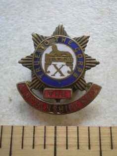 VINTAGE LINCOLNSHIRE REGIMENT BADGE in Collectables, Badges/ Patches, Military Badges | eBay