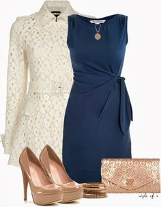 Get Inspired by Fashion: Classy Outfits | DVF Dress and Lace Coat