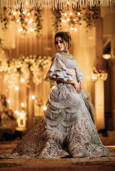 Dreamy Engagement with a Bride in Dazzling Manish Malhotra Lehenga Party Wear Indian Dresses, Indian Wedding Gowns, Designer Party Wear Dresses, Indian Bridal Outfits, Indian Gowns Dresses, Indian Fashion Dresses, Indian Designer Outfits, Wedding Lehenga Designs, Designer Bridal Lehenga