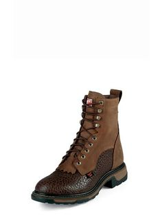 Tony Lama Mens Chocolate Shoulder Leather TLX 8in Work Boots
