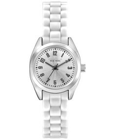 Caravelle New York by Bulova Women's White Silicone Strap Watch 19mm 43L176