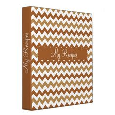 Golden Retriever Chevron Binders .................This design features a Golden Retriever Chevron pattern. Colors represent a golden retriever dog. The TEXT on front and spine can be customized with your own. Check out my store for more colors.