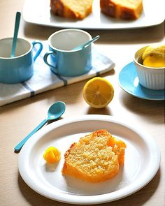 Lemon cake in syrup! (in Greek) Cake Recipes, French Toast, Lemon, Syrup, Breakfast, Greek, Food, Morning Coffee, Easy Cake Recipes