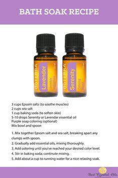 doTERRA Bath Soak Recipe