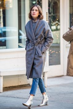 "alexachungdirectory: "" Alexa Chung on set in New York City on December 7, 2015 """
