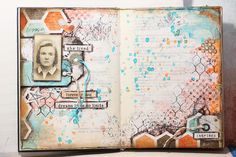 Új Art Journal album | Sugallatok #beedee #beedeescrap #tutorial #mixedmedia #artjournal #7dotsstudio #cottoncandydreams #cottoncandy Old Books, Junk Journal, Mixed Media Art, Vintage World Maps, Album, Journalling, Art Journals, Painting, Inspiration
