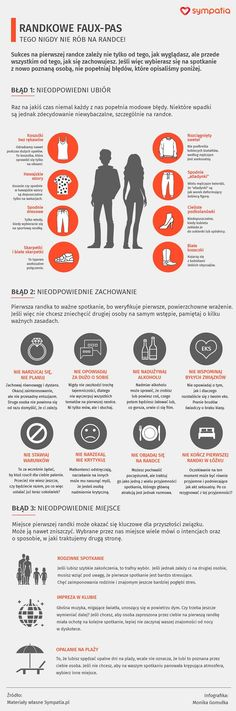 Pierwsza randka - tego nie rób. Infografika Self Development, Personal Development, Bae, Body Language, Free Time, Good To Know, Fun Facts, Life Hacks, Knowledge