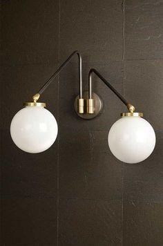 CTO Lighting Array Twin Opal Wall Light   Nielsen House Shop