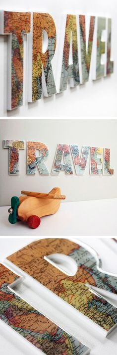 TRAVEL Wall Letters | dotandbo.com - Write Disney instead of DCL with park maps, navigators, etc.
