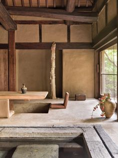 Axel Vervoordt Transforms a Military Barrack into a Minimalist Masterpiece - Galerie Japan Interior, Japanese Interior Design, Japanese Design, Japanese Architecture, Interior Architecture, Wabi Sabi, Decoration Design, Interior Exterior, Stone Interior