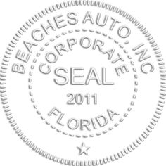 Picture of a Corporate Seal embosser seal