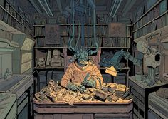 SCI Fi Cyberpunk Ilustração 01 - Josan Gonzalez