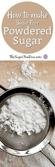 How to Make Sugar Free Powdered Sugar- this is the recipe for making powdered sugar aka confectioners sugar that is sugar free. Use Stevia or Splenda (sucralose) with these easy recipes. (easy noodle recipes how to make) Sugar Free Deserts, Sugar Free Sweets, Sugar Free Cookies, Low Carb Sweets, Sugar Free Recipes, Low Carb Desserts, Dessert Recipes, Paleo Dessert, Diabetic Friendly Desserts