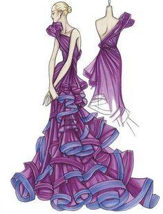 Atelier Versace 2009 - Ursula Concept Idea - Fashion Sketches