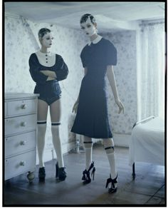 Audrey Marnay & Kirsi Pyrhonen,  Suffolk, UK, 2011 - Italian Vogue - Photography by Tim Walker