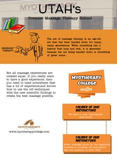Massage Therapy School, Old Art, Infographics, Utah, Acting, Infographic, Ancient Art, Info Graphics, Visual Schedules