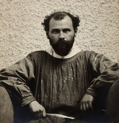 Gustav Klimt in 1902  Klimt disliked being interrupted while working so he arranged his visits over breakfast at the Cafe Tivoli. Friends where allowed to drop by and chat but after that he returned to his studio alone to work undisturbed. [i]
