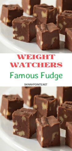Fudge Recipes, Ww Recipes, Low Calorie Recipes, Candy Recipes, Snack Recipes, Dessert Recipes, Weight Watchers Pumpkin, Weight Watchers Plan, Weight Watchers Desserts