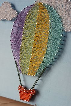 Hot Air Balloon String Art by mintiwall on Etsy !!!!!!!!!! I need this!!!