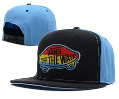 f1adfcf978d69 VANS Snapback Hats OFF THE Wall Black Blue Street Brands