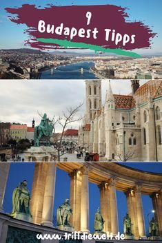 9 Budapest Tipps für einen Budapest Kurztrip. Was hat eine Budapest Reise zu bieten? Panoramen, Kirchen, Thermen und vieles mehr. #budapest Budapest City, Visit Budapest, Budapest Hungary, Travel Around The World, Around The Worlds, Budapest Travel Guide, Places To Go, Beautiful Places, Kirchen