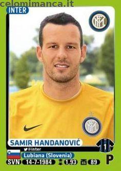 Calciatori 2014-2015: Fronte Figurina n. 212 Samir Handanović