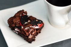 Candy Cane Oreo Brownies