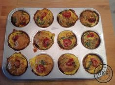 Variant eiermuffins - Daan's Koolhydraatarme Recepten Healthy Oatmeal Recipes, Pureed Food Recipes, Healthy Snacks, Brunch Recipes, Breakfast Recipes, Greek Yogurt Breakfast, Healthy Biscuits, Keto, Paleo