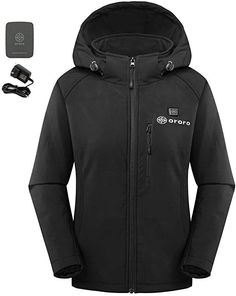 8d209b29877c3 Amazon.com  ororo Women s Slim Fit Heated Jacket with Battery Pack and  Detachable Hood