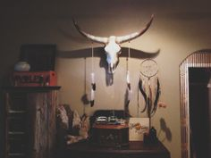 cow skull and dreamcatcher rootsandfeathers.com