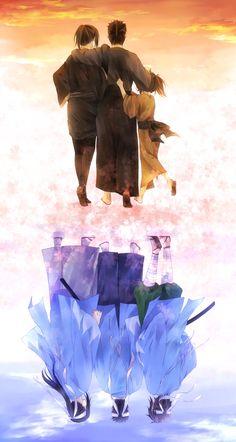 Hakuouki Shinsengumi Kitan (Demon Of The Fleeting Blossom) Mobile Wallpaper - Zerochan Anime Image Board I Love Anime, Me Me Me Anime, Anime Guys, Manga Art, Manga Anime, Anime Art, Tous Les Anime, The Garden Of Words, Gekkan Shoujo