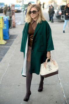 Nasiba Adilova at the New York Fashion Week #StreetStyle #NYFW 2014