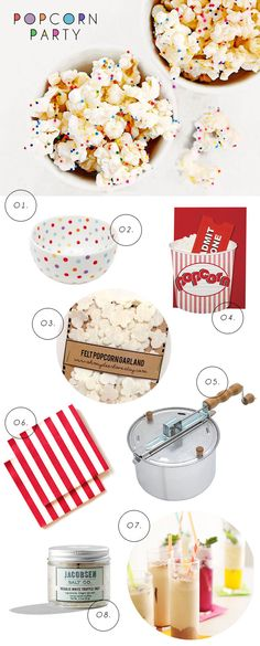 Popcorn Lover's Day Party