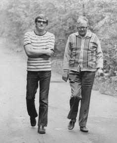 Dmitri and Maxim Shostakovich in 1973