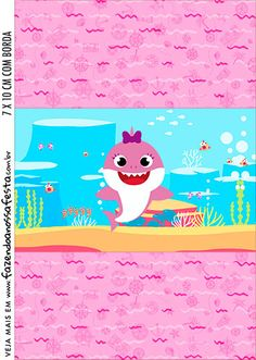 Adesivo Bala Personalizada Festa Baby Shark Rosa Diy Birthday Decorations, Birthday Party Favors, 2nd Birthday, Happy Birthday Hand Lettering, Cars Invitation, Under The Sea Decorations, Foto Baby, Shark Party, Baby Shark