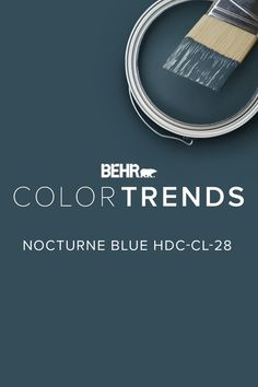 Nocturne Blue HDC-CL-28 sets the mood for rest, inspired by mystical summer evenings spent looking up at the stars. House Color Schemes, House Colors, Exterior Colors, Exterior Paint, Room Colors, Wall Colors, Paint Colors For Home, Furniture Paint Colors, Pintura Exterior