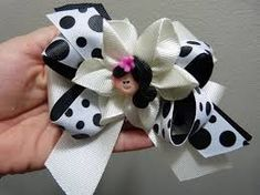 Tutorial Flor listón Gros, Make Simple Easy Bow, Flor facilita PaP, Diy Diy Ribbon Flowers, Making Fabric Flowers, Kanzashi Flowers, Ribbon Hair Bows, Diy Hair Bows, Baby Bows, Baby Headbands, Bow Tutorial, Making Hair Bows