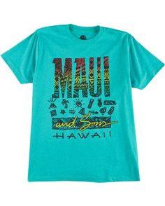Maui & Sons Mens Tapa Maui T-Shirt