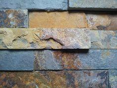 Multicolour External Wall Cladding, Wall Cladding Panels, Natural Stone Wall, Natural Stones, Stone Veneer Exterior, Wall Design, House Design, Stone Cladding, Architect Design